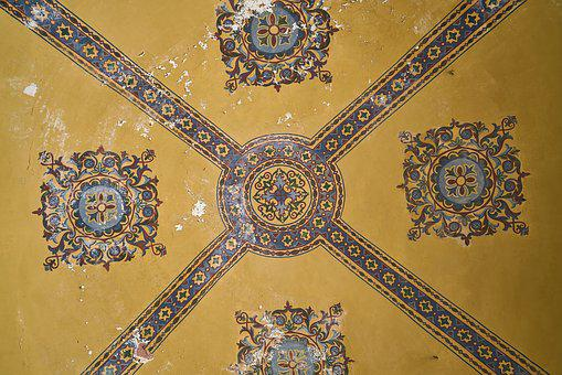 Ceiling, Wall, Yellow, Texture, Dome, Macro, Beautiful
