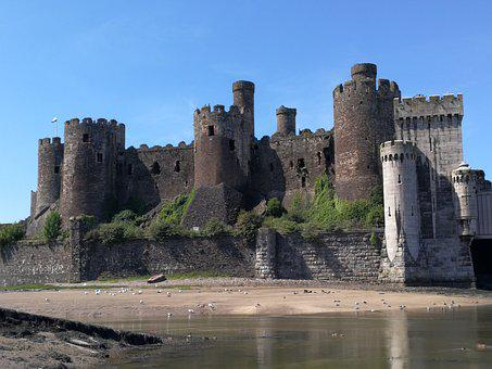 Castle, Wales, Conway, Welsh, Uk, Tower, Estuary, Coast