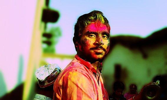 Festival, Holi, India, Indian, People, Faces, Coloured