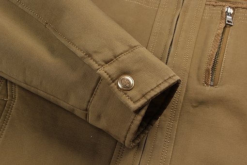 Khaki, Jacket, Cuffs, Detail