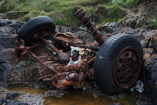 Junkyard, Auto, Stainless Karre, Car Wreck, Wreck, Rust