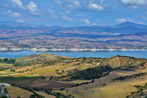 Greece, North, Landscape, Area, Hinterland, Karg