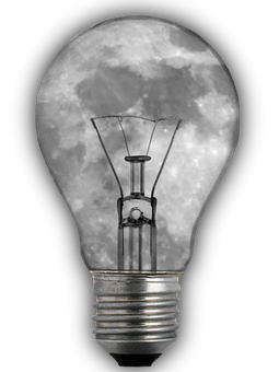 Light Bulb, Moon, Image Editing, Png, Isolated