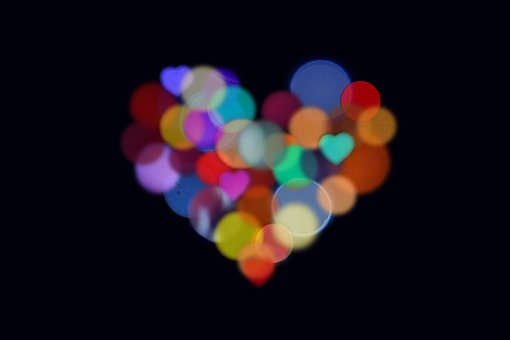 Heart, Bokeh, Love, Background, Heart Shape