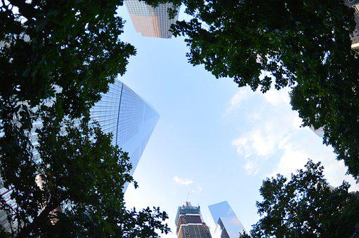 Battery Park, New York City, Skyline, America