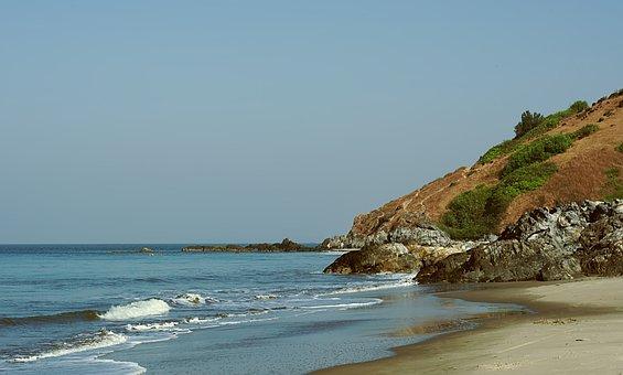 Beach, Sand, Hill, Ocean, Sea, Water, Landscape, Sky