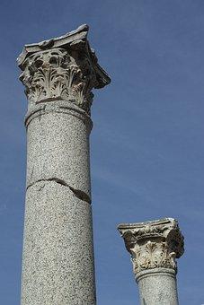 Column, Old, Rome, Hellenic, Historical Works