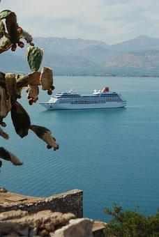 Sea, Water, Mediterranean, Vegetation, Stand, Booked
