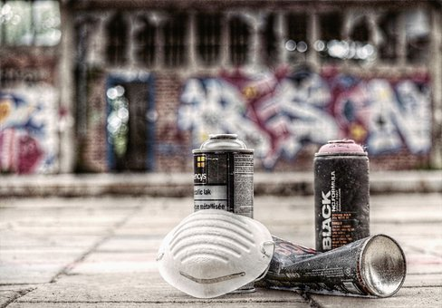 Graffiti, Sprayer, Spray Cans, Mask, Sprayer Utensils