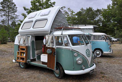 Vw, Van, Combi, Surf, Cool, Holiday, Relaxation, Retro