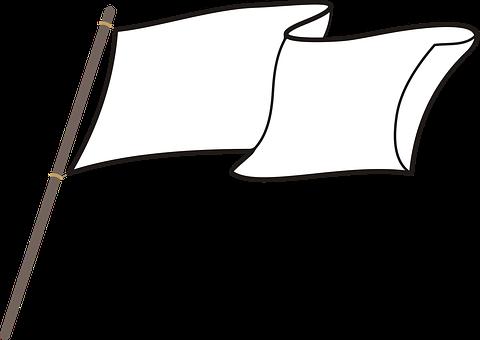Flag, White Flag, Symbol, Heaving, White, Powiewająca