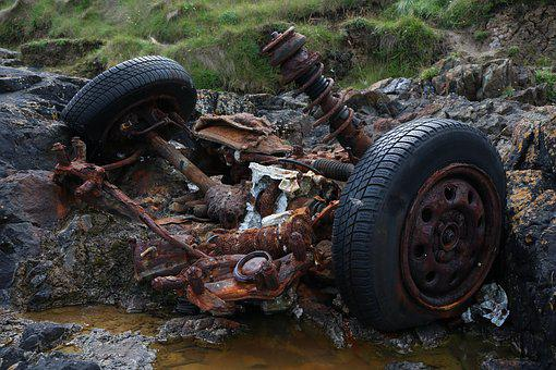 Junkyard, Auto, Stainless Karre, Car Wreck, Wreck