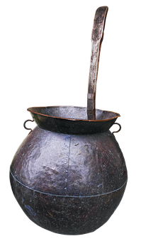 Copper Boiler, Middle Ages, Antique, Historically