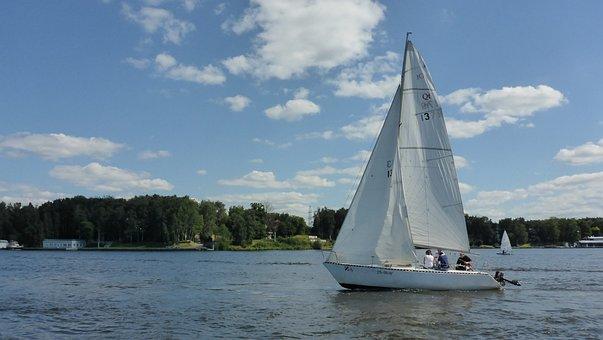 Sails, Regatta, Boat, Reservoir, Water, In The Water