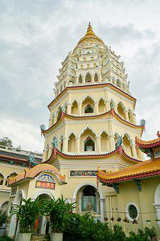 Tower, Temple, On, Old, Buddhist, Buddhism, Hinduism