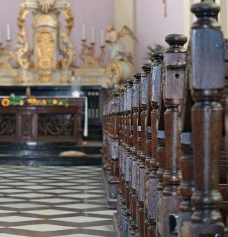 Church, Altar, Church Pews, Christian, Christianity