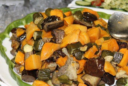 Salad, Butternut, Egg-plant, Aubergine, Baby Marrow