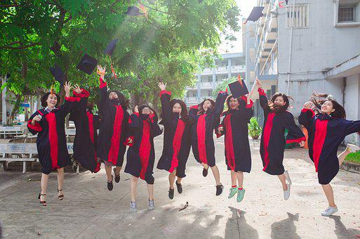 Friend, Student, Graduate, Young, Group, People, Happy