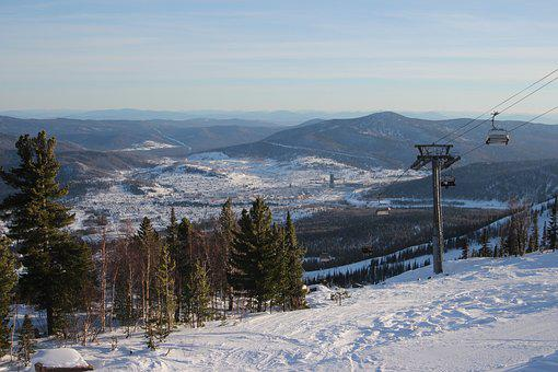 Russia, Mountains, Sheregesh, Nature, Snow, Tourism