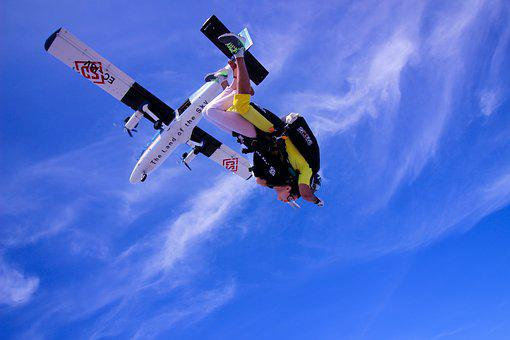 Skydiving, Sky, Fly, Sport, Freedom, Parachuting, Air