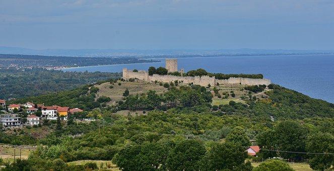 Castle, Platamon, Village, Platamonas, Greece