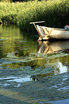 Boat, River, Lake, Nature, Green, Water, Iskele