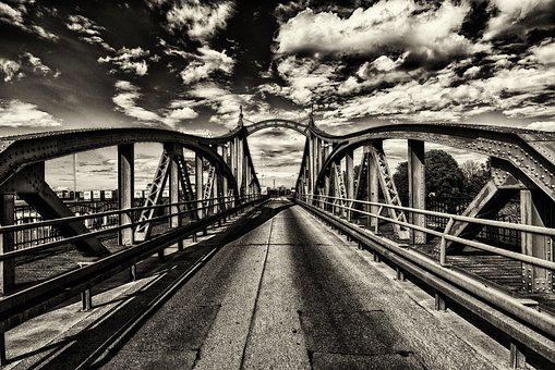 Bridge, Road, Asphalt, Port, Roadway, Highway