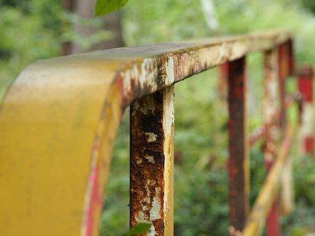 Railing, Rust, Rusty, Metal, Old, Bridge, Iron, Rusted