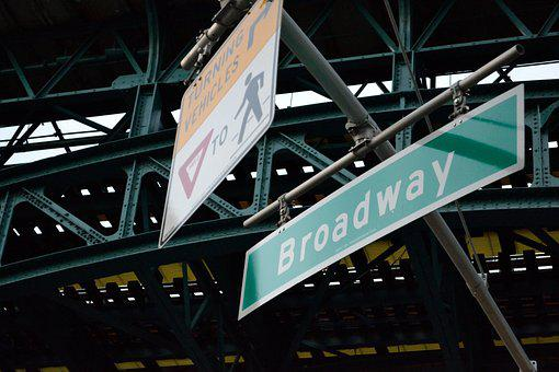 New York, Harlem, Broadway, Street Sign, Signs