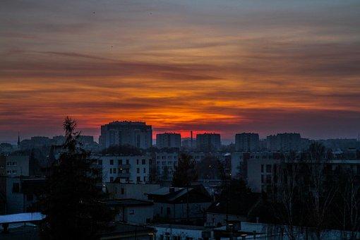 Krakow, Poland, Sky, Sunset, Building, Architecture