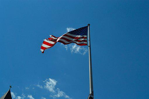 American Flag, Flags, Old Glory, Weather Beaten Flag