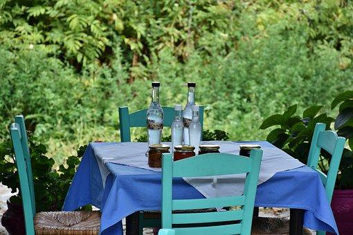 Restaurant, Table, Chairs, Eat, Drink, Wine, Nei Pori