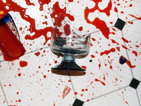 Broken, Glass, Spill, Accident, Crash, Damaged