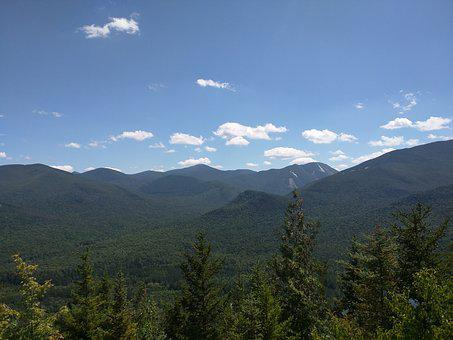 Mountain, Forest, Nature, Landscape, Sky, Adirondacks