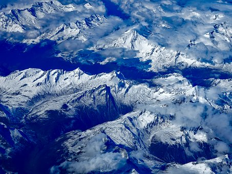 Russia, Mountains, Aerial View, Flight, Perspective