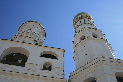 Russian, Architecture, White Buildings