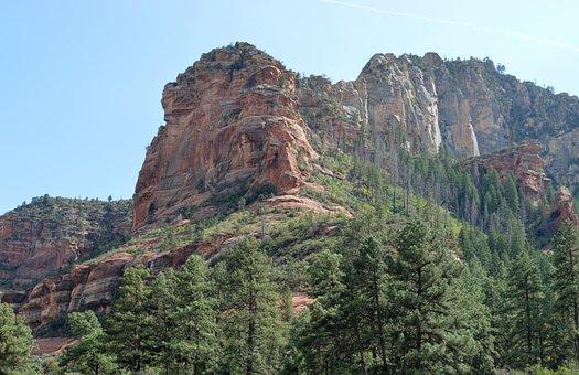 Arizona, Slide Rock, Rock, State Park, Landscape