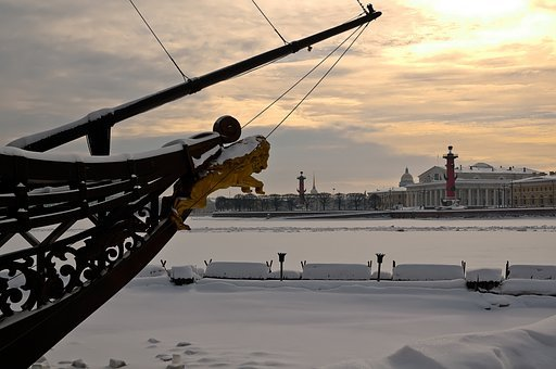 St Petersburg Russia, Vasilievsky Island, Arrow
