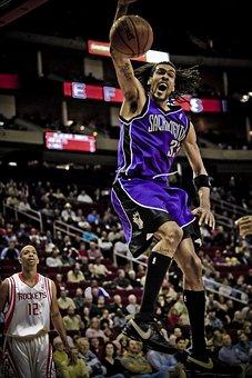 Basketball, Professional, Action, Player, Dunk, Shot