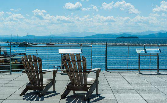 Burlington, Vermont, Lake Champlain, Chairs, Scenery
