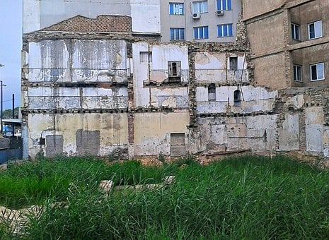 Buildings, Demolished Buidings, City, Athens, Wallside
