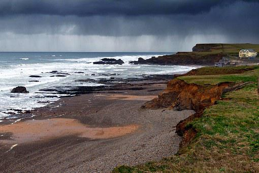 Crooklets Beach, Cornwall, Bude, England, Sea, Cliffs