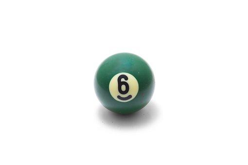 Ball, Yellow, Pool, Closeup, Life, Symbol, Six, Cutout