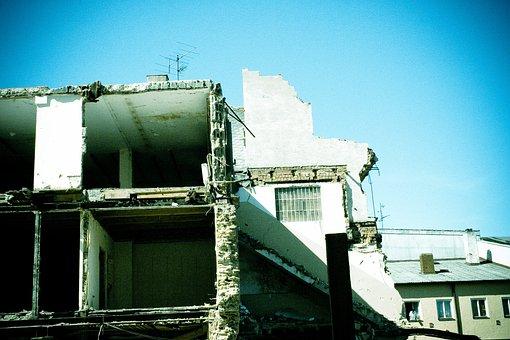 Demolition, Disassembly, House, Broken, Lapsed