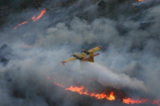 Seaplane, Water, Download, Flames, Smoke