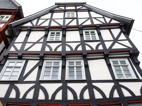 Fachwerkhaus, Fritzlar, Downtown, Historic Old Town