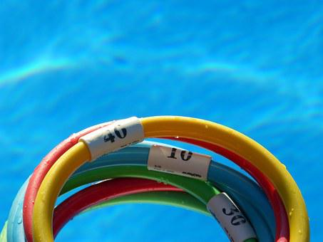 Hoops, Game, Water Play, Pool, Colors, Exercise, Sport