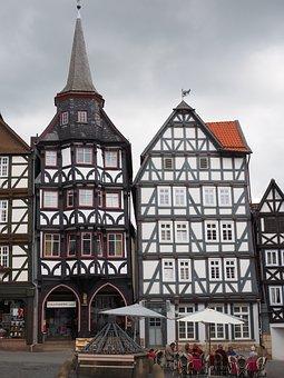Guild House, Fritzlar, Downtown, Fachwerkhäuser