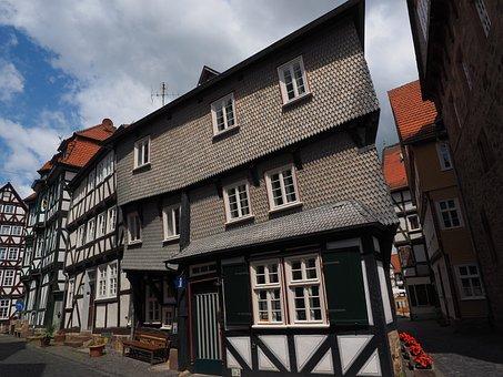 Fritzlar, Fachwerkhäuser, Downtown, Historic Old Town