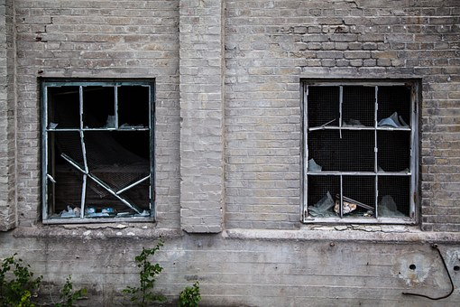 Broken Windows, Destruction, Factory, Abandoned